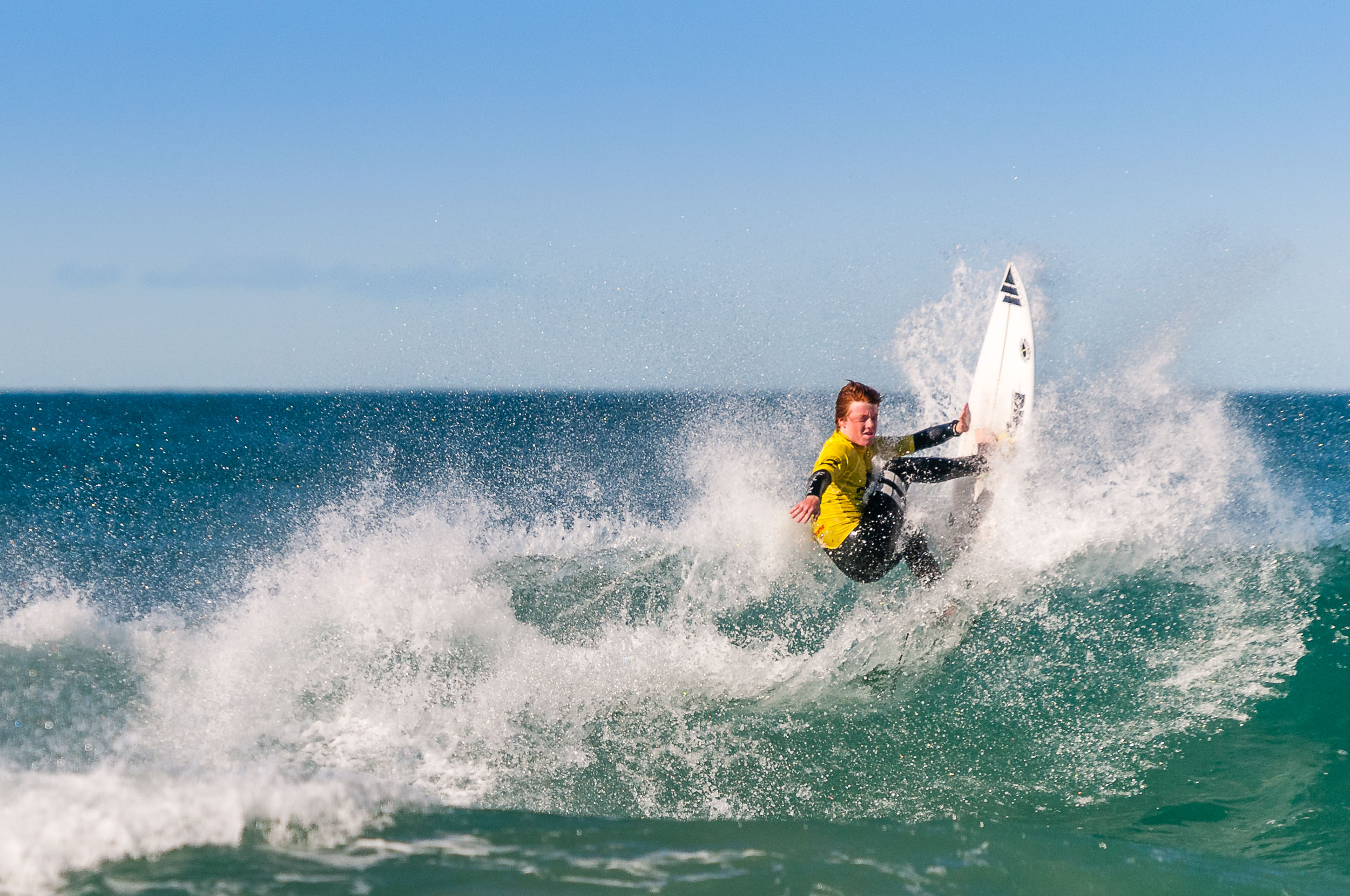 Competitor at ParkoGrom surfing comp, Sunshine Coast, Queensland